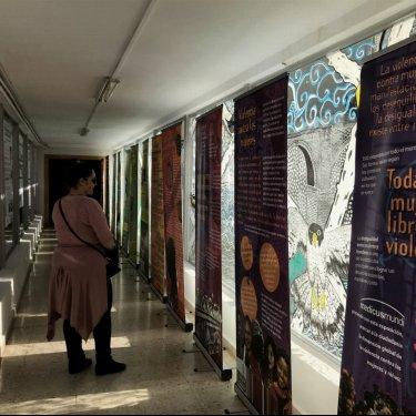 """""""Todas las mujeres libres de violencia"""" en la Escuela de Caminos de la Universidad de Cantabria"""
