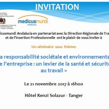 Jornadas sobre « La responsabilité sociétale et environnementale de l'entreprise : un levier de la santé et sécurité au travail »
